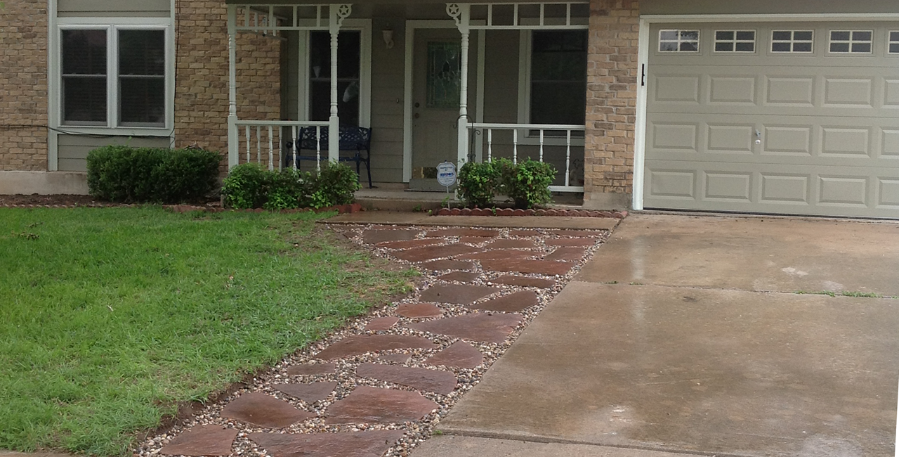 Stone Pathway Design | Austin | Peachtree LandscapePeachtree Landscape And  Irrigation